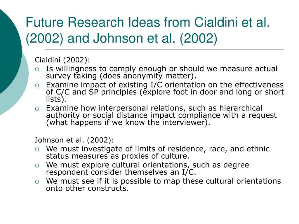 Cialdini (2002):