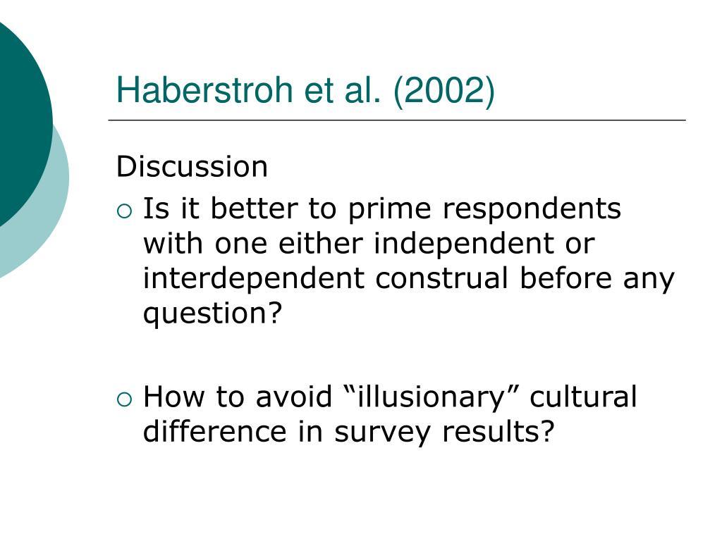 Haberstroh et al. (2002)