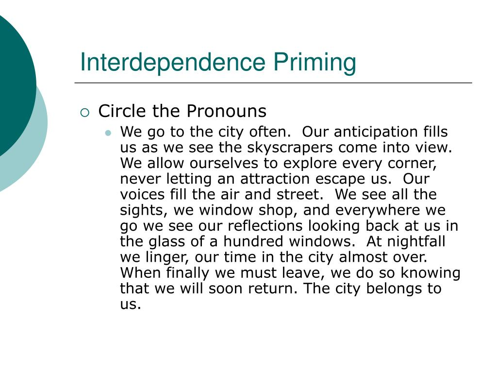 Interdependence Priming