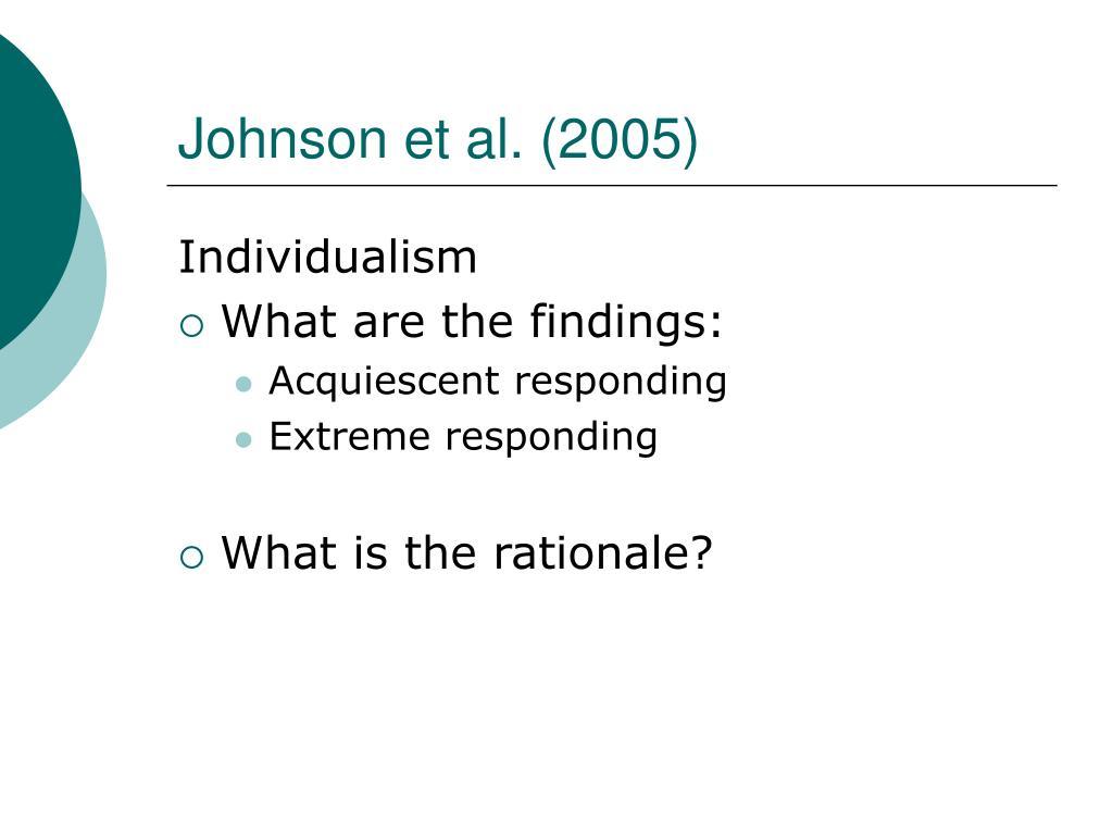 Johnson et al. (2005)