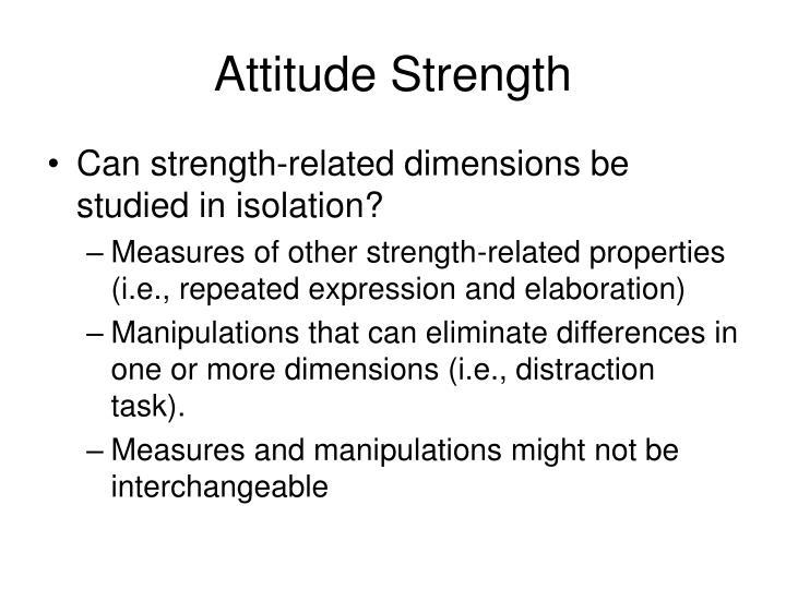 Attitude Strength
