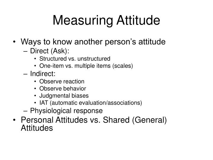 Measuring Attitude