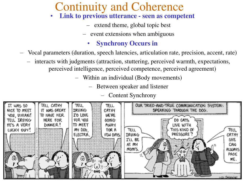 Continuity and Coherence