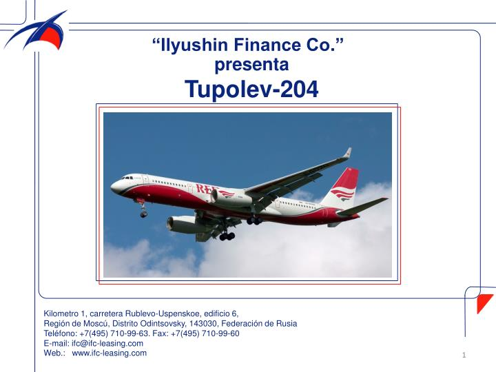 """Ilyushin Finance Co"