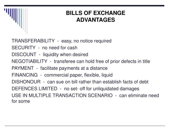 BILLS OF EXCHANGE