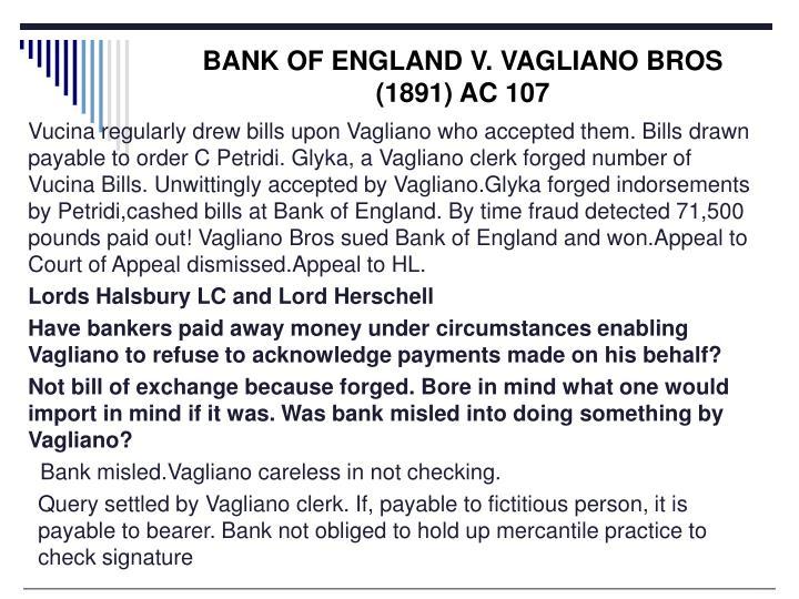 BANK OF ENGLAND V. VAGLIANO BROS