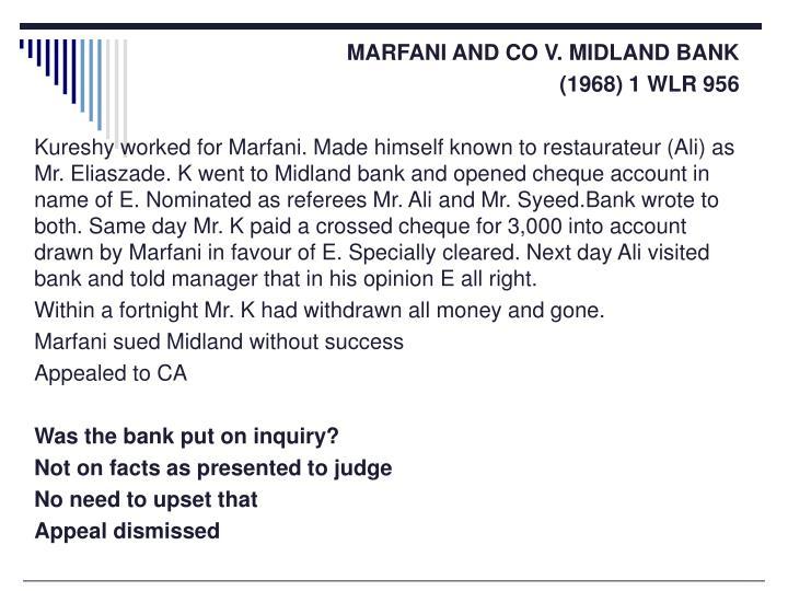 MARFANI AND CO V. MIDLAND BANK
