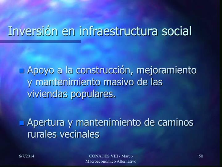 Inversión en infraestructura social