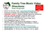 family tree music video directions grade 6 through adult