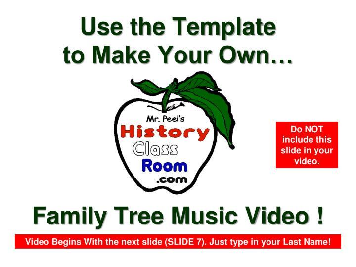 Family Tree Music Video !