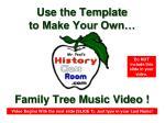 family tree music video2