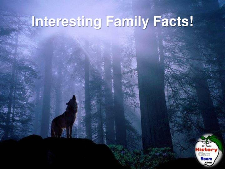Interesting Family Facts!