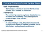 forms of business federal income taxes