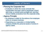 liability of owners