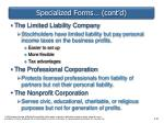 specialized forms cont d1