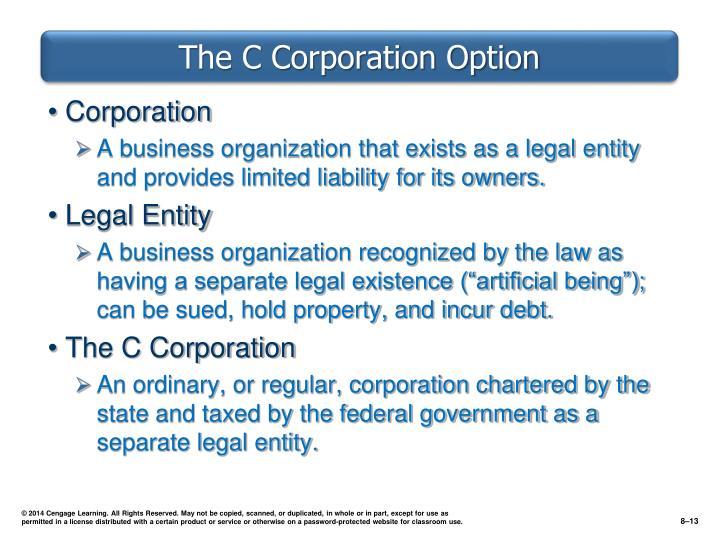 The C Corporation Option