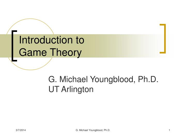 Introduction to game theory l.jpg