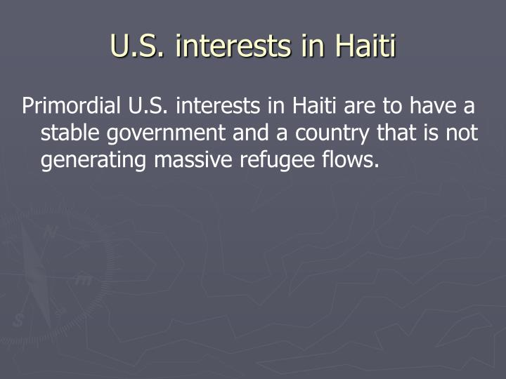 U.S. interests in Haiti
