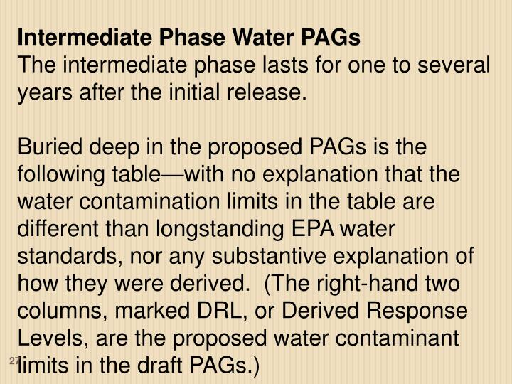 Intermediate Phase Water PAGs