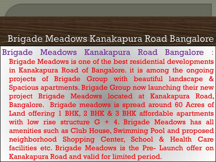 Brigade meadows kanakapura road bangalore