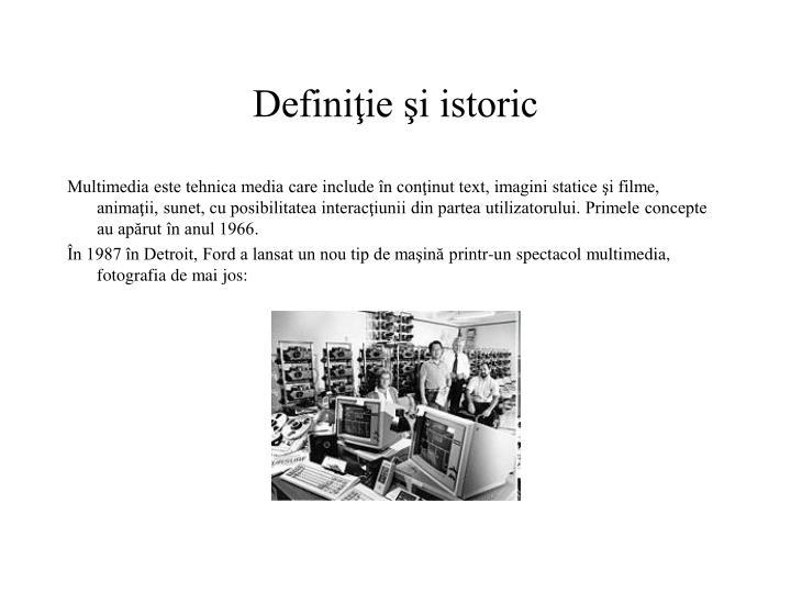 Definiţie şi istoric