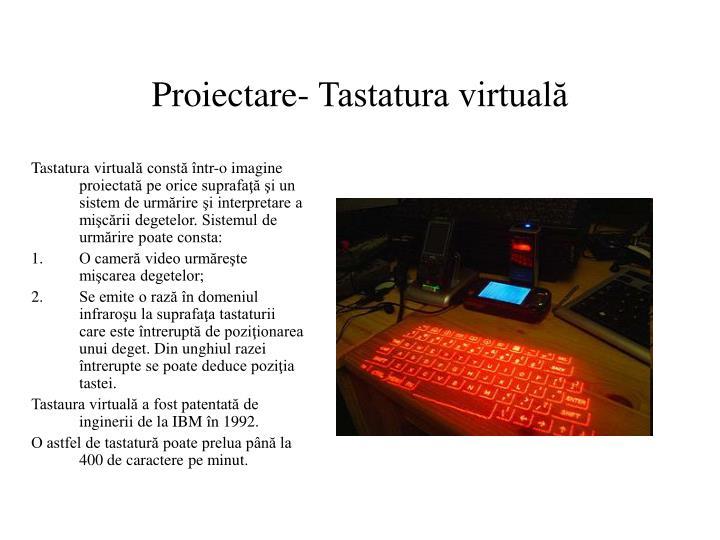 Proiectare- Tastatura virtuală