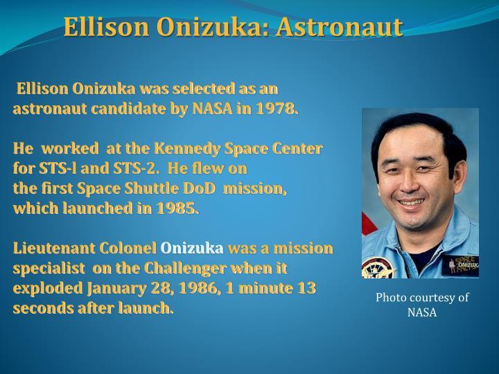 Ellison Onizuka: Astronaut