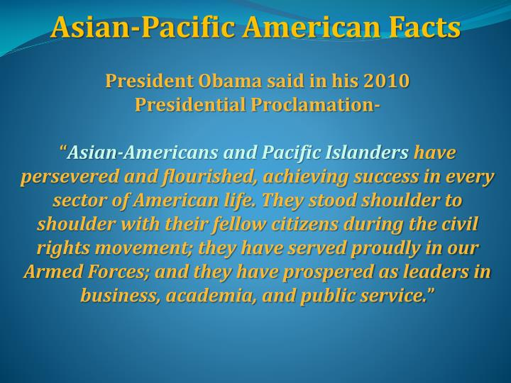 Asian-Pacific American Facts