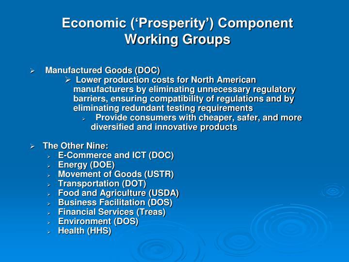 Economic ('Prosperity') Component