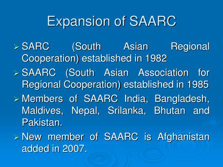 Expansion of SAARC