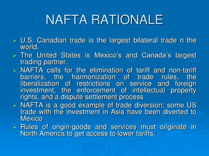 NAFTA RATIONALE