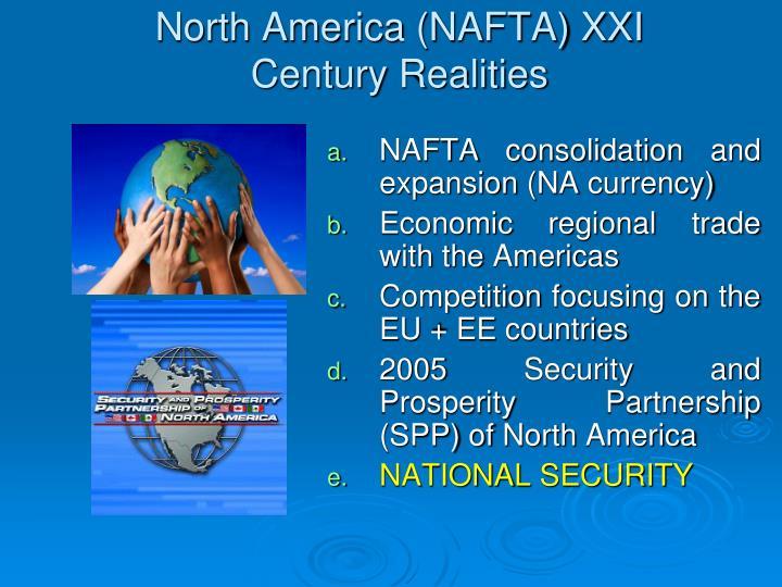 North America (NAFTA) XXI Century Realities