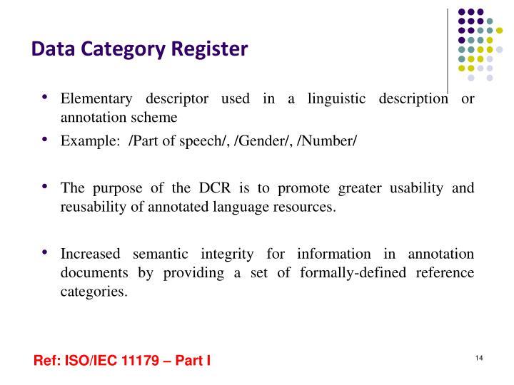 Data Category Register
