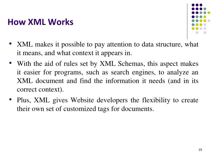 How XML Works