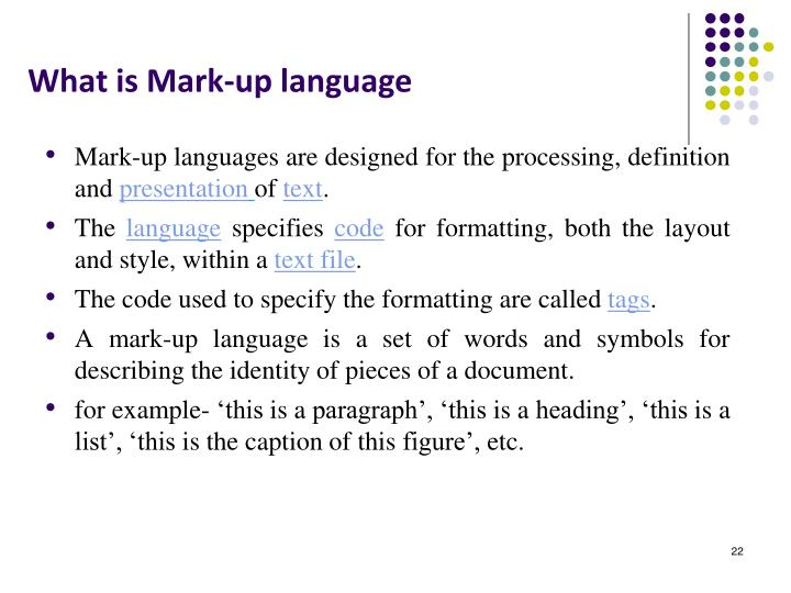 What is Mark-up language