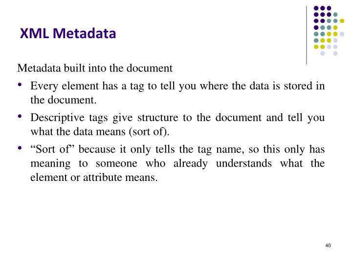 XML Metadata