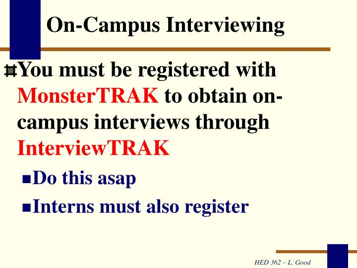On-Campus Interviewing
