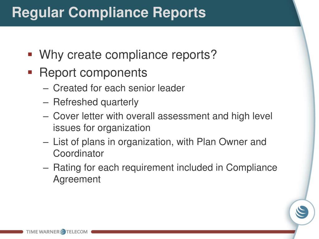 Regular Compliance Reports