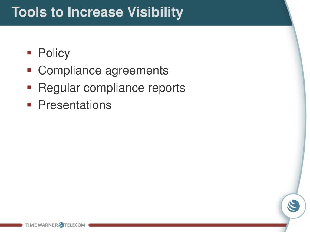 Tools to Increase Visibility