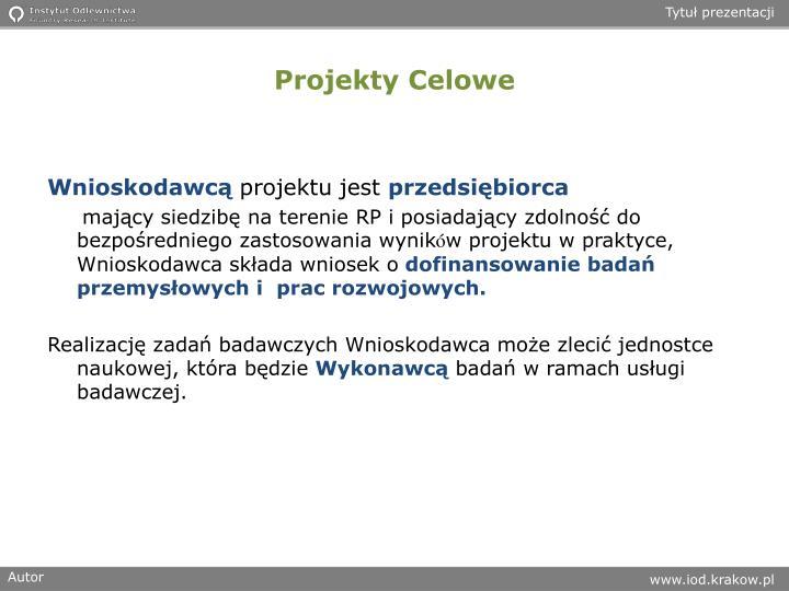 Projekty Celowe