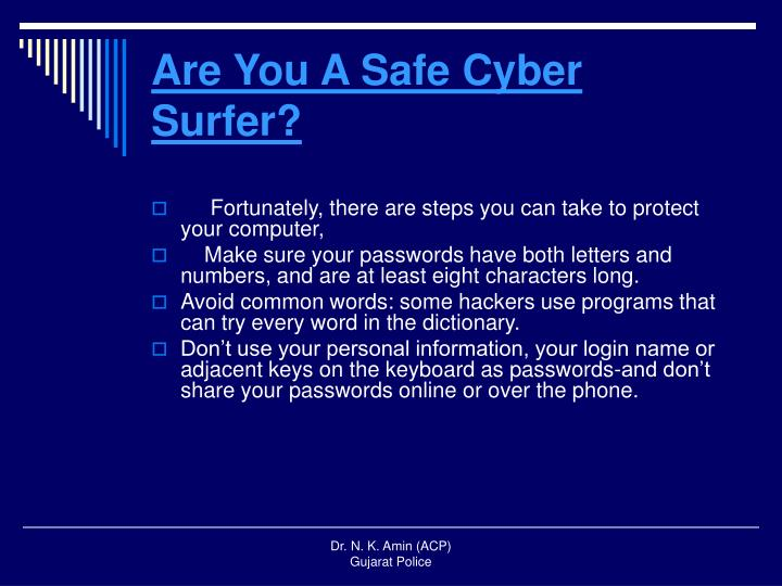 Are You A Safe Cyber Surfer?