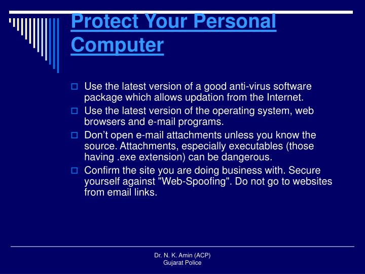 Protect Your Personal Computer