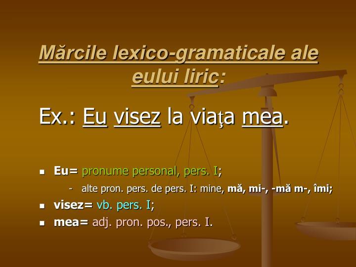 Mărcile lexico-