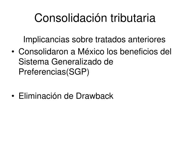 Consolidación tributaria