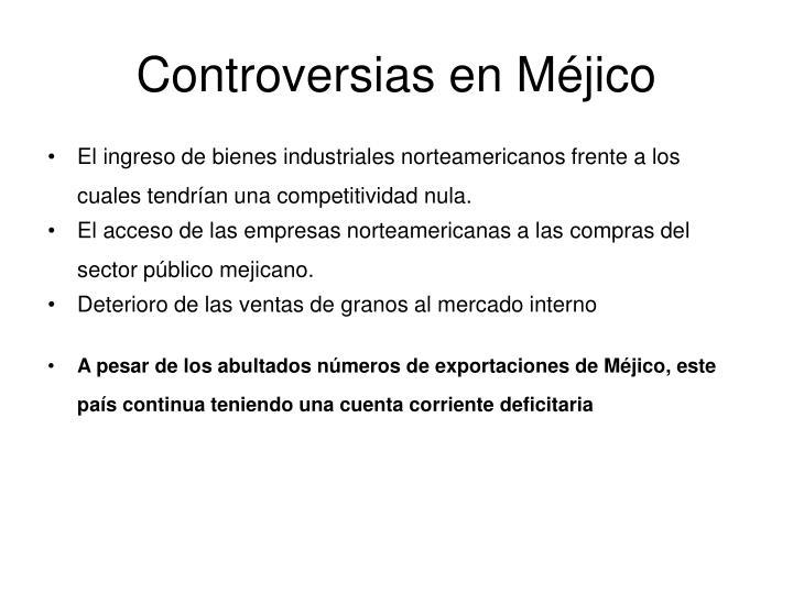 Controversias en Méjico