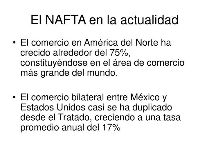 El NAFTA en la actualidad