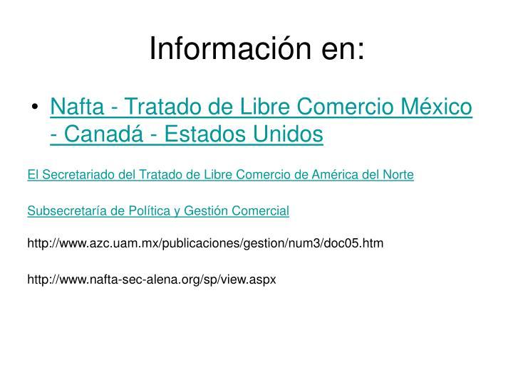 Información en: