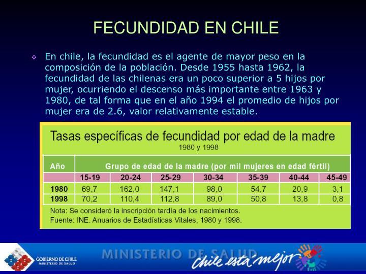 FECUNDIDAD EN CHILE