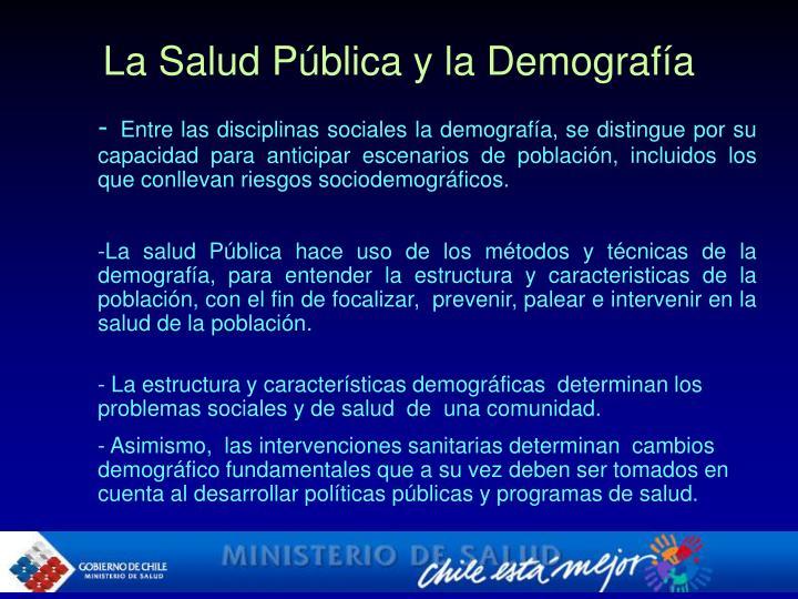 La Salud Pública y la Demografía