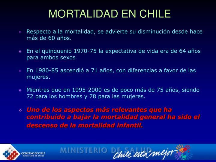 MORTALIDAD EN CHILE